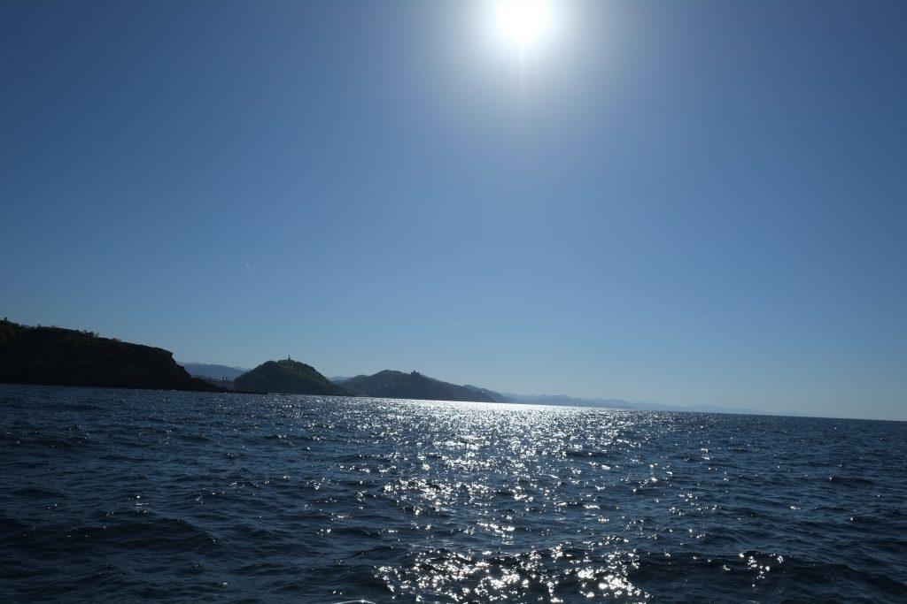 En mer, au large de San Sebastian, pays basque espagnol
