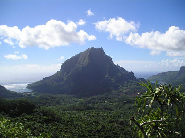 La baie de Cook en Polynésie
