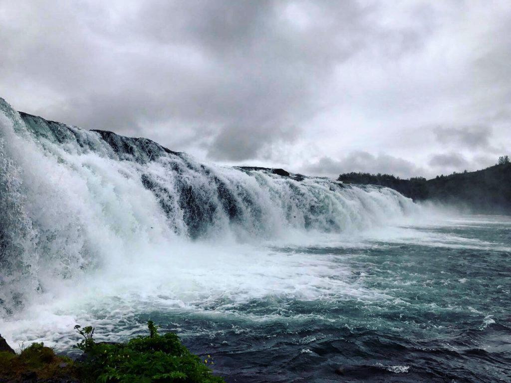 l'impressionnante chute d'eau de Gooafoss en Islande