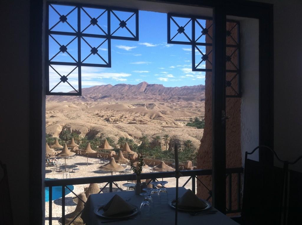 Tamerza Plalace, une vue sur les contre-fort du désert