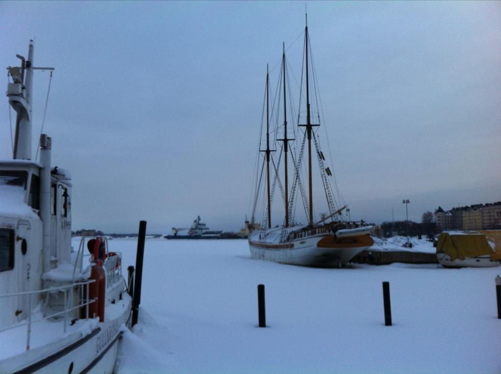 Le port de plaisance en hiver