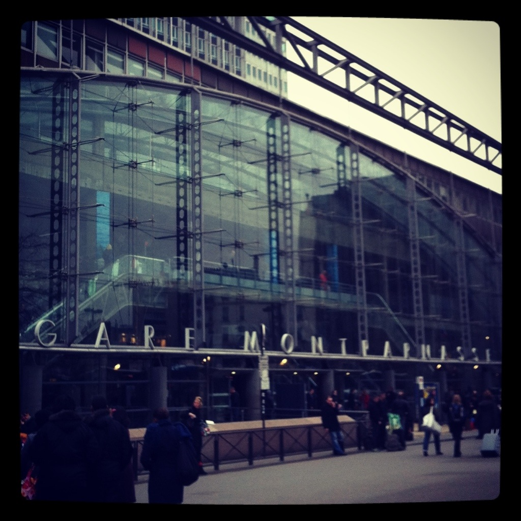 L'entrée de la gare Montparnasse