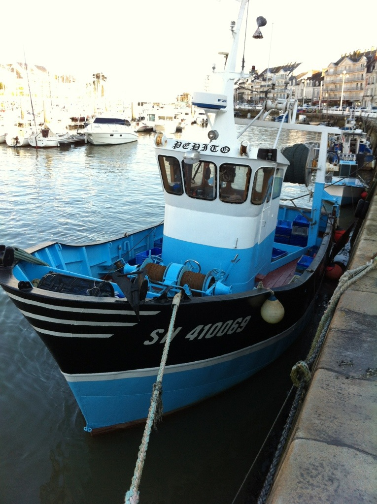 un petit chalutier dans le port du Pouliguen
