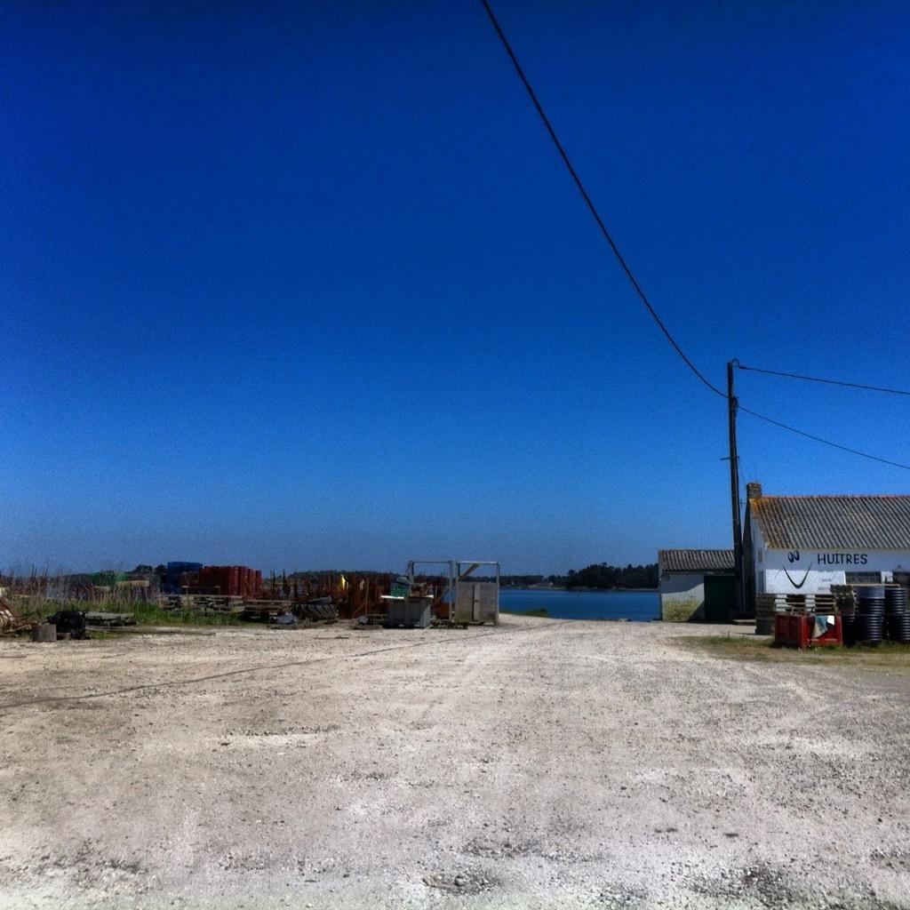 Morbihan, l'une des fermes ostréicoles