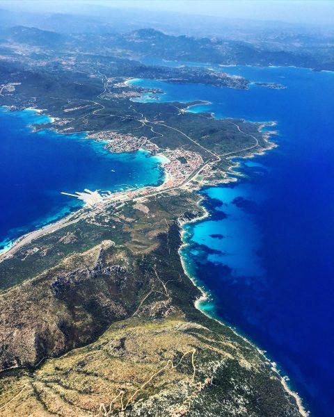 La Sardaigne vue depuis un avion