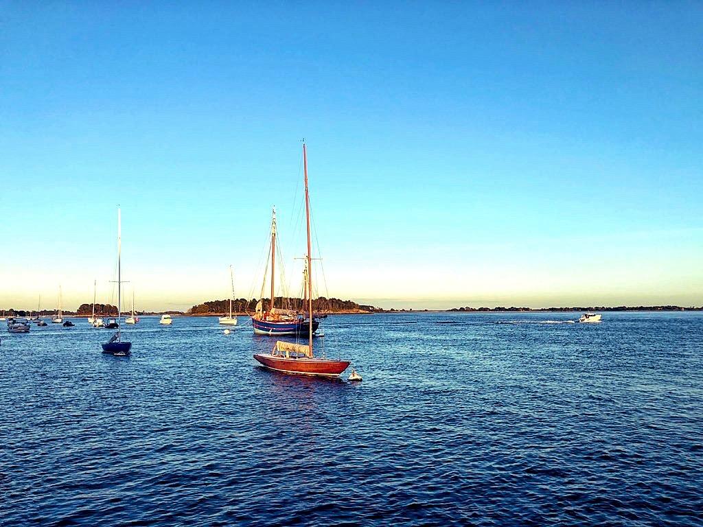 une fin de journée dans le golfe du Morbihan