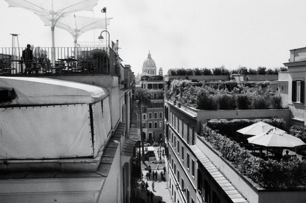 Vue sur la ville de Rome à proximité de la place d'Espagne