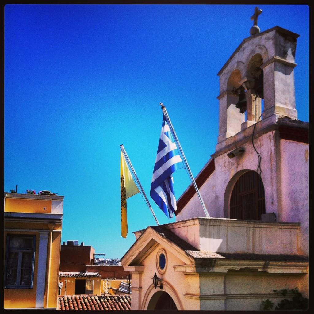 Une petite église dans le centre d'Athènes