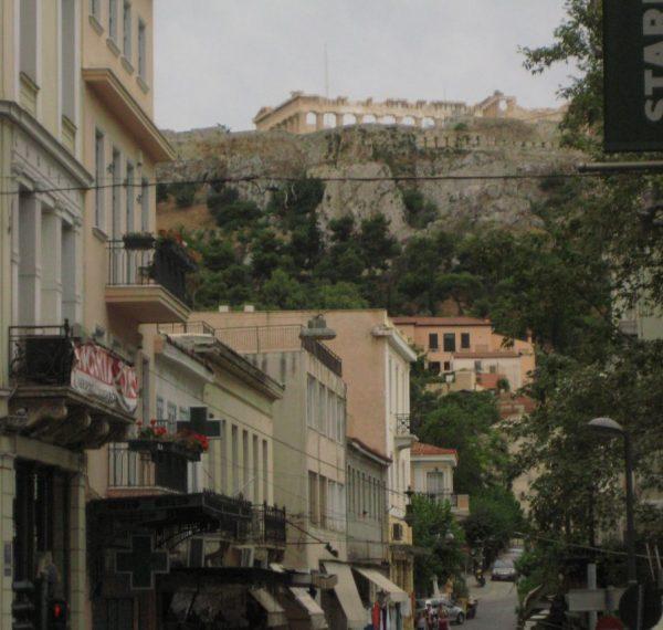 Vue sur le Parthénon à Athènes
