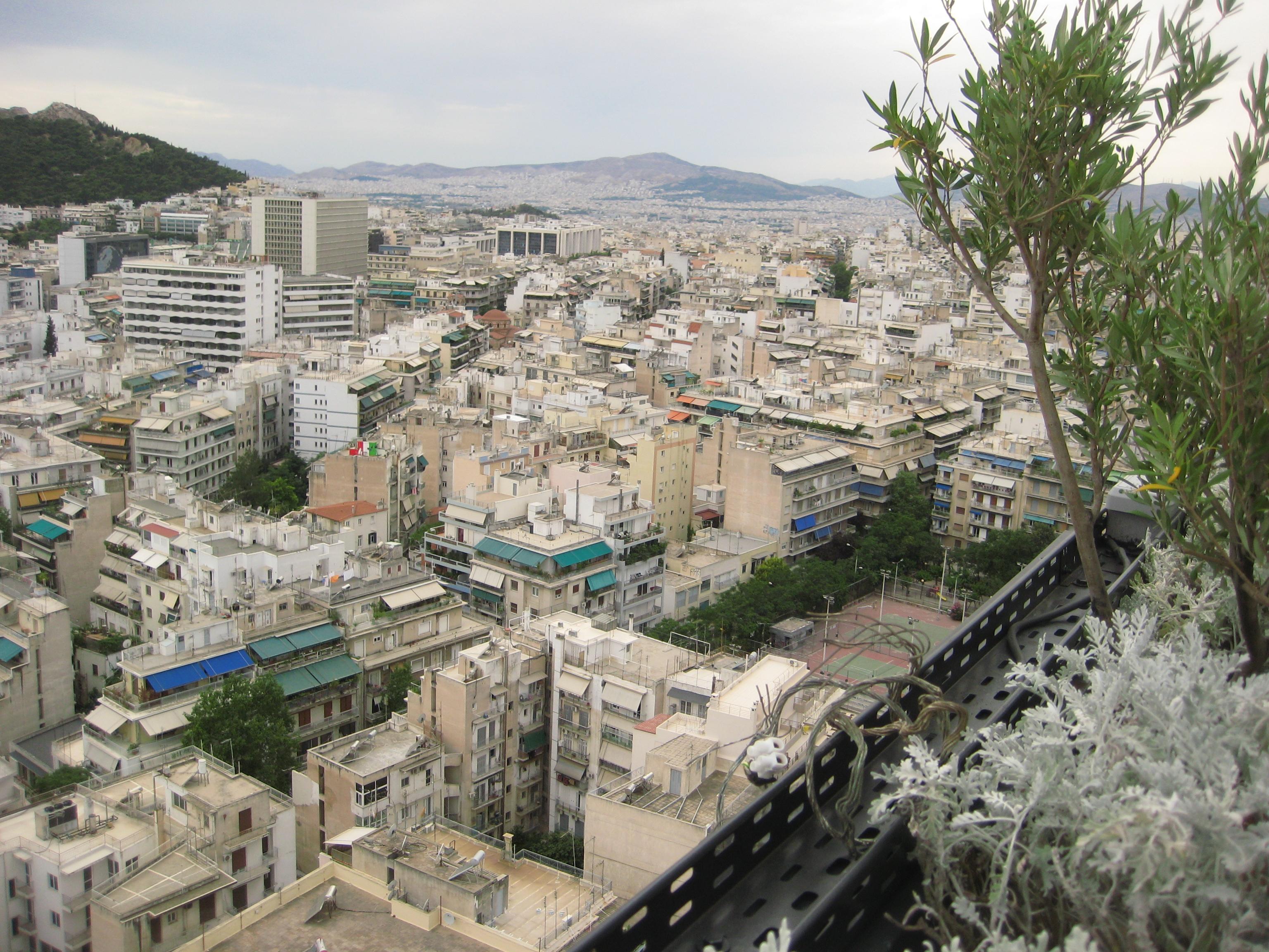 vue sur Athènes depuis le President Hotel