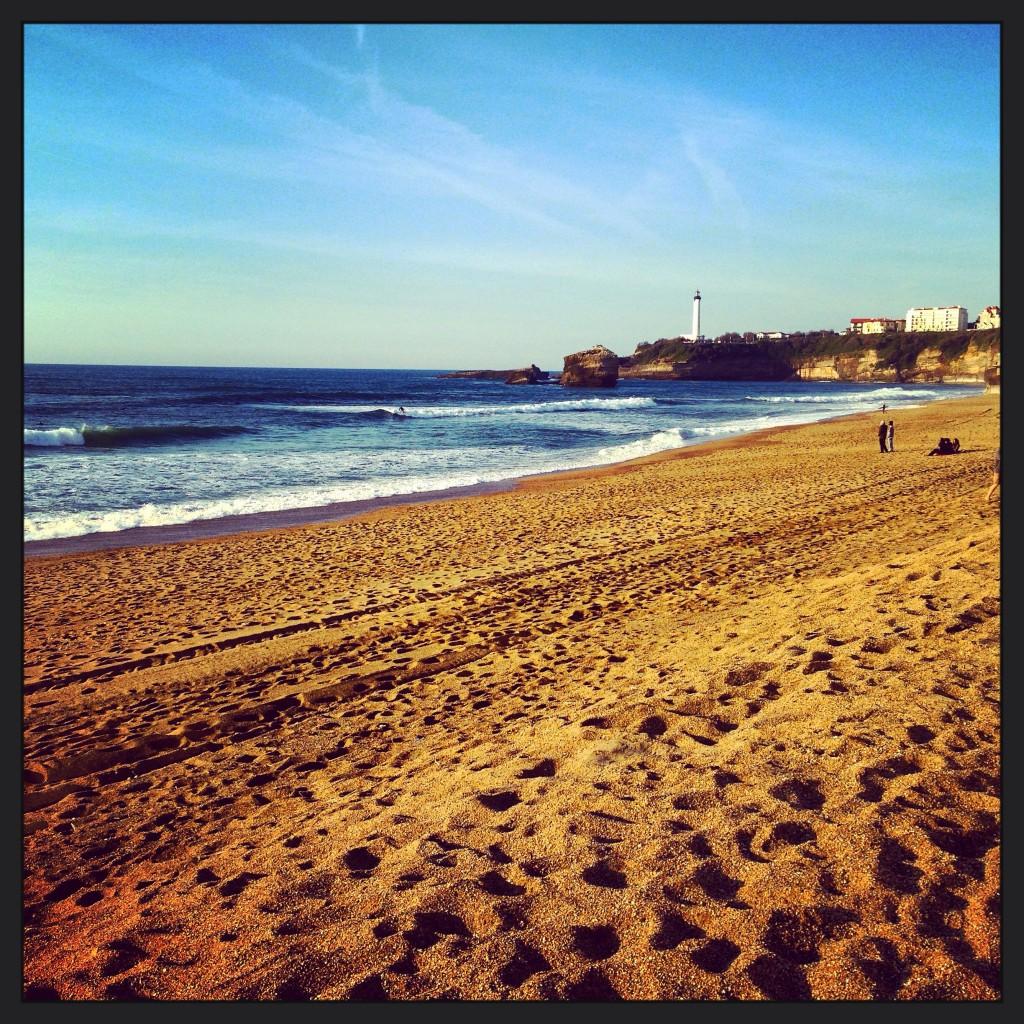 La grande plage de Biarritz au mois d'avril