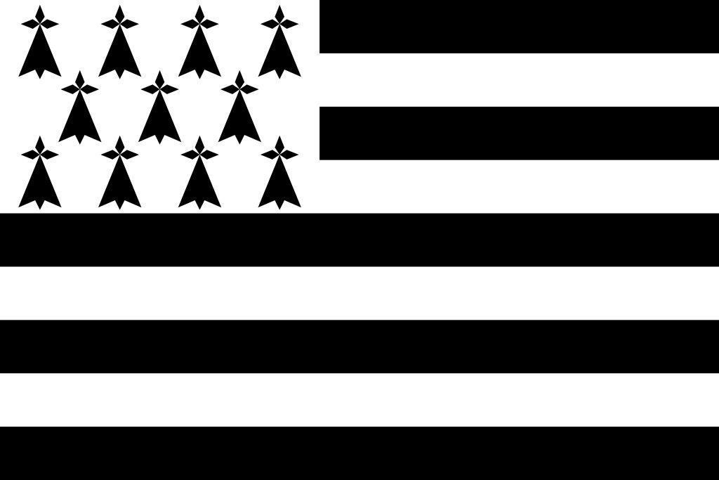Un drapeau en noir et blanc