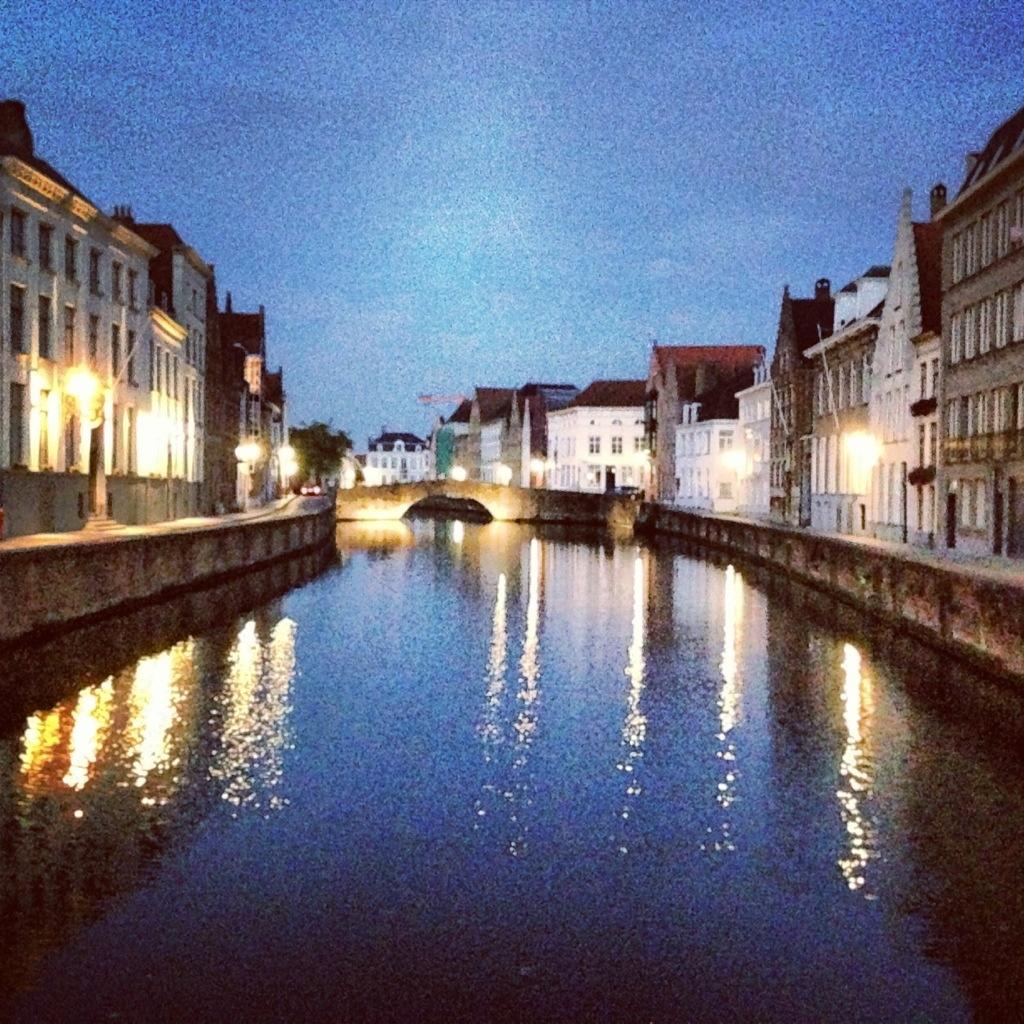 Le calme de la ville de Bruges