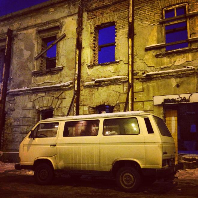 Un van volkswagen T3 en Serbie