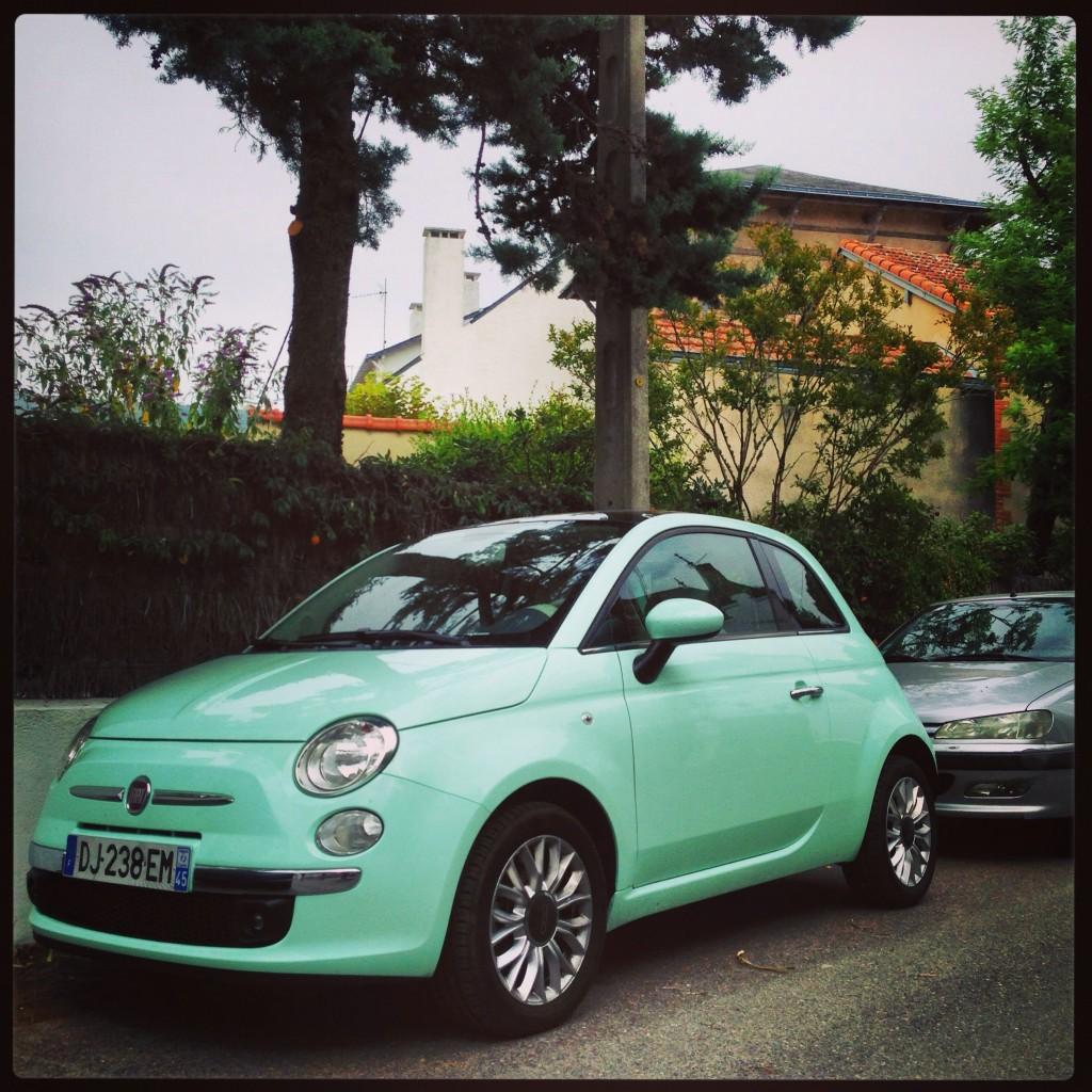Un très joli vert pour une très jolie Fiat 500