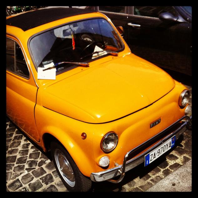 FIAT 500, décapotable, Italie