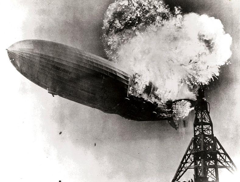 Tragédie Hindenburg Zeppelin