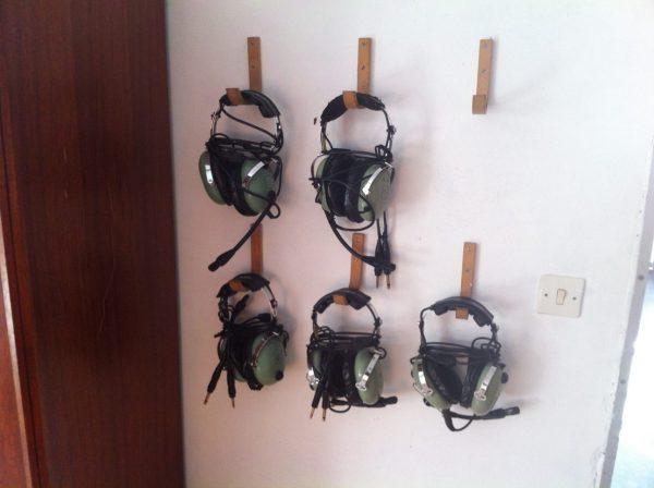 Des casques de pilotes