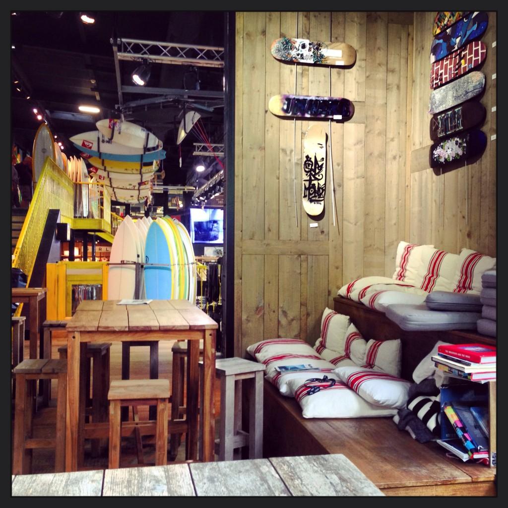 Le shop QuickSilver à Saint-Jean de Luz