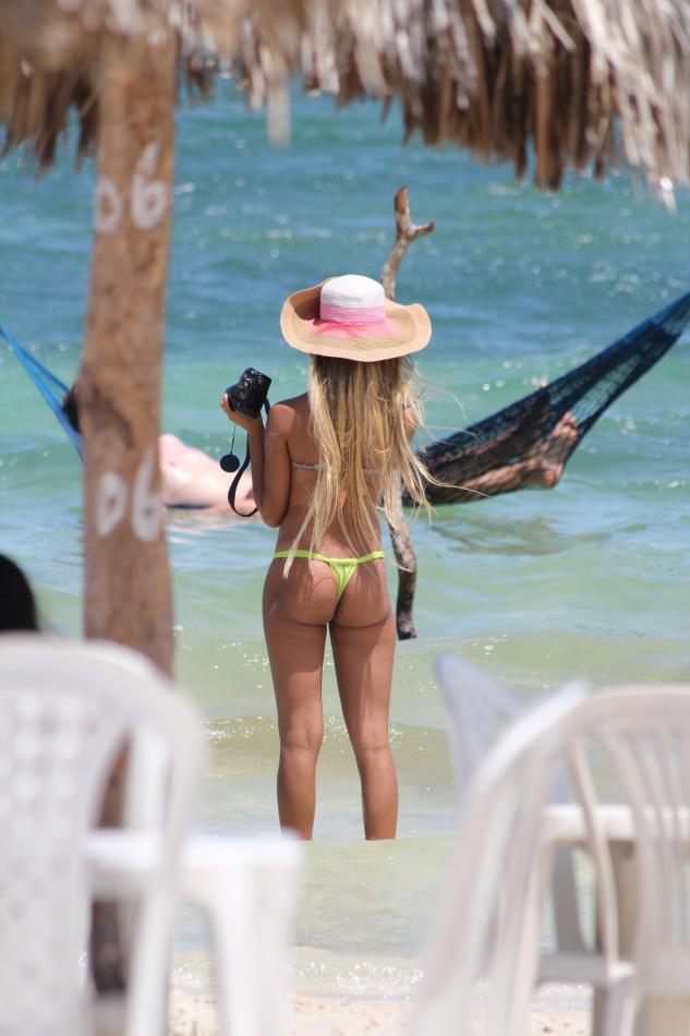 sur la plage au Bresil c'est chaud