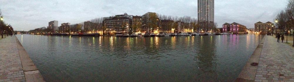 Le canal de l'Ourcq en hiver
