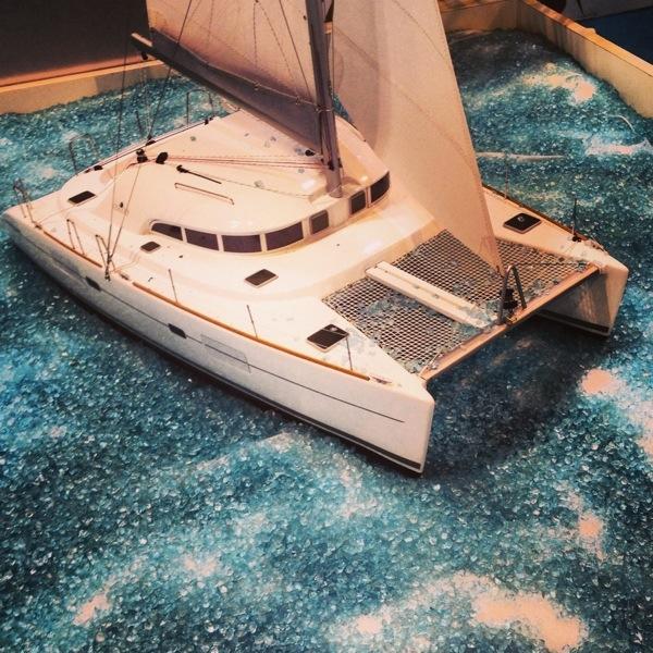 Une belle maquette du Lagoon 380