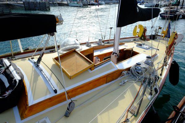Le plan de pont de Pen Duick 2, le célèbre bateau d'Eric Tabarly