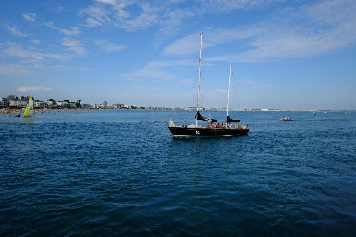 Encore un voilier de légende rentrant au port après une régate