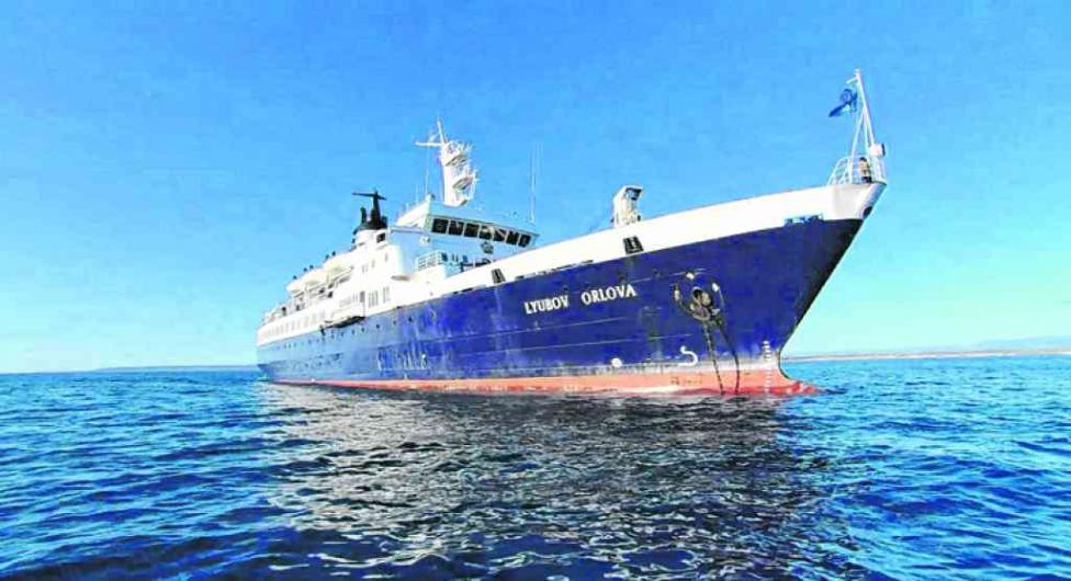 Un navire abandonné le Lyobov Orlova