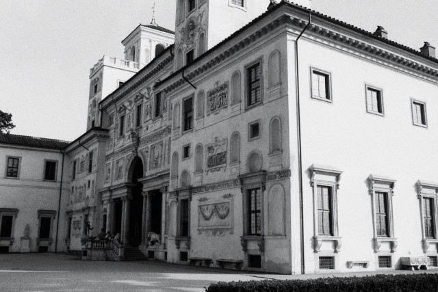 La Villa de Medicis côté jardin