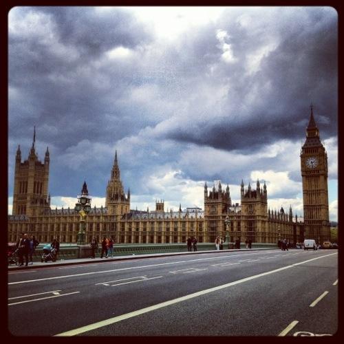 Londres sous les nuages