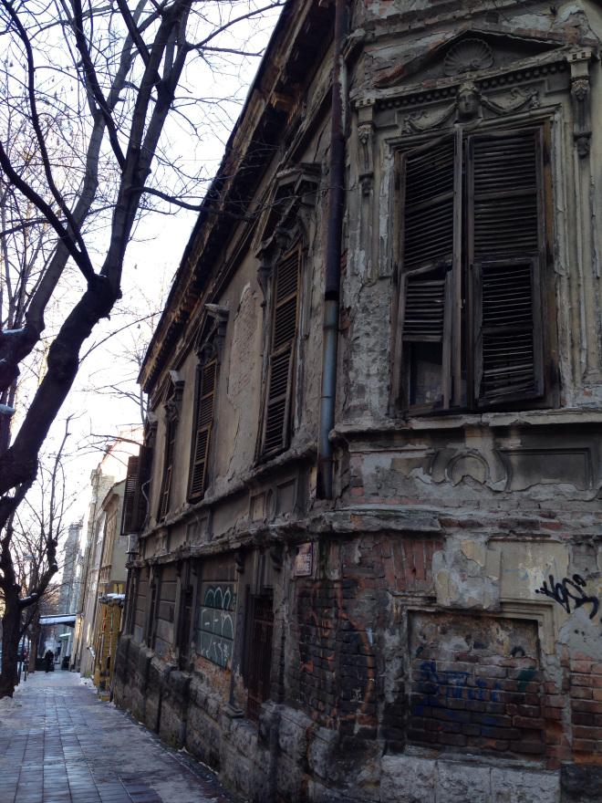 Une maison abandonnée à Belgrade