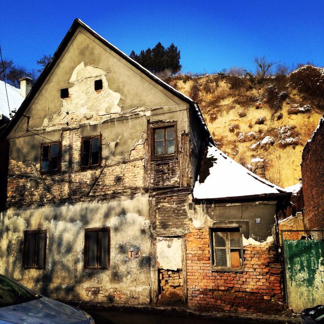 Une maison abandonnée à Zemun en Serbie