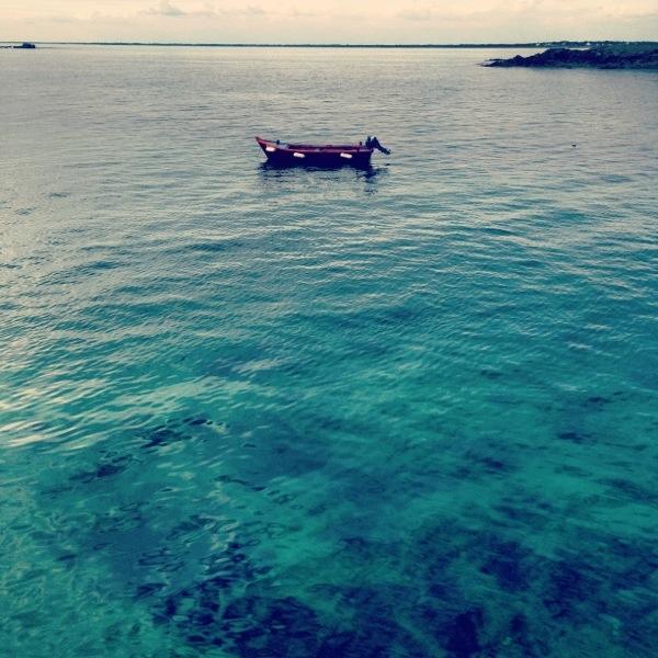 Un petit canot à Portivy