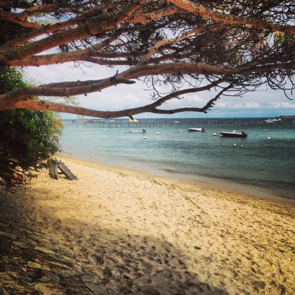 La plage du Cap Ferret côté bassin