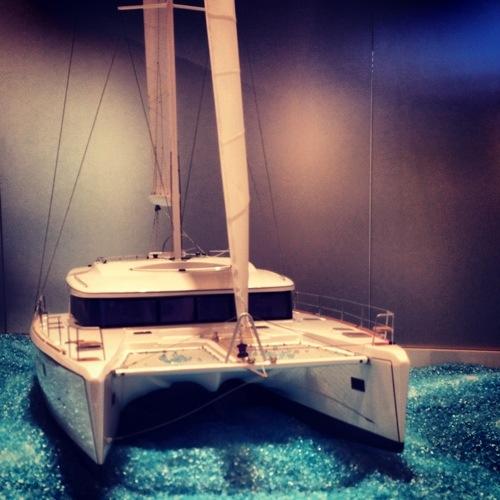 Le  catamaran Lagoon 450 en miniature