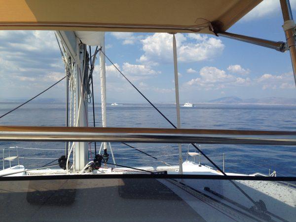 Dans le golfe Saronique vers Athènes
