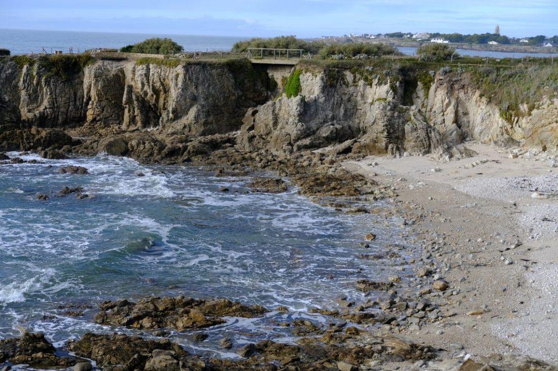 La côte bretonne dans le sud de la région