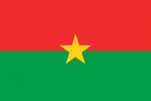 Le drapeau du Burkina Faso, pays pauvres
