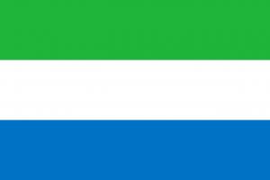 Le drapeau de la Sierra Leone, le pays est dans la liste des plus pauvres pays du monde