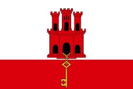 le drapeau de Gibraltar
