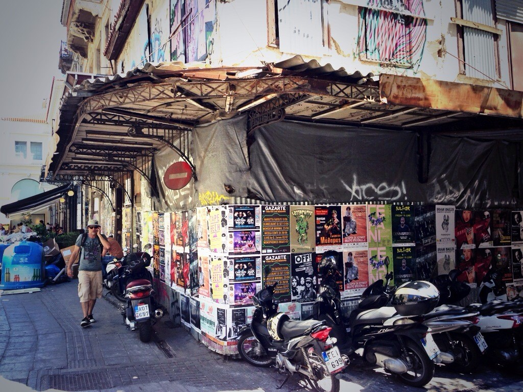 Athènes, un centre ville tout en relief