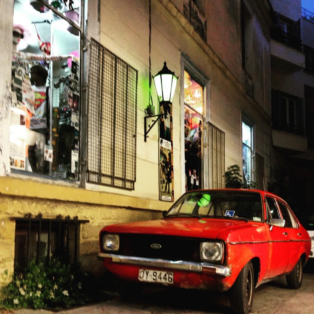 Une Automobile rétro à Athènes