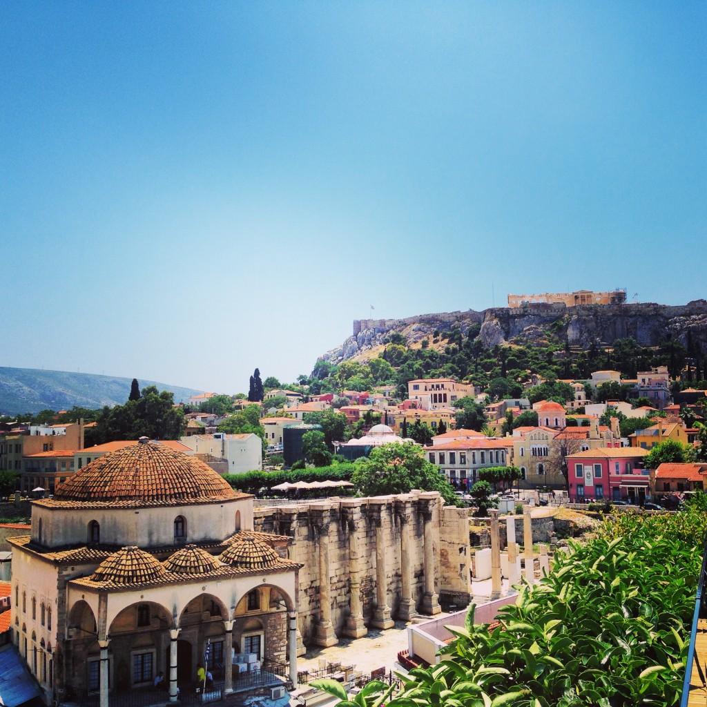 36. Vue depuis les toits d'Athènes