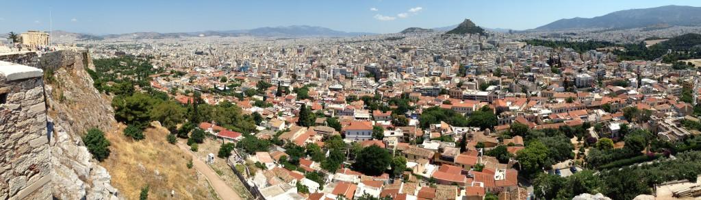 Vue panoramique sur Athènes