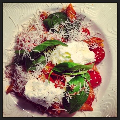 Pates tomates mozzarella