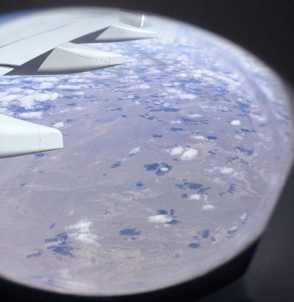 En avion au dessus de la Mongolie