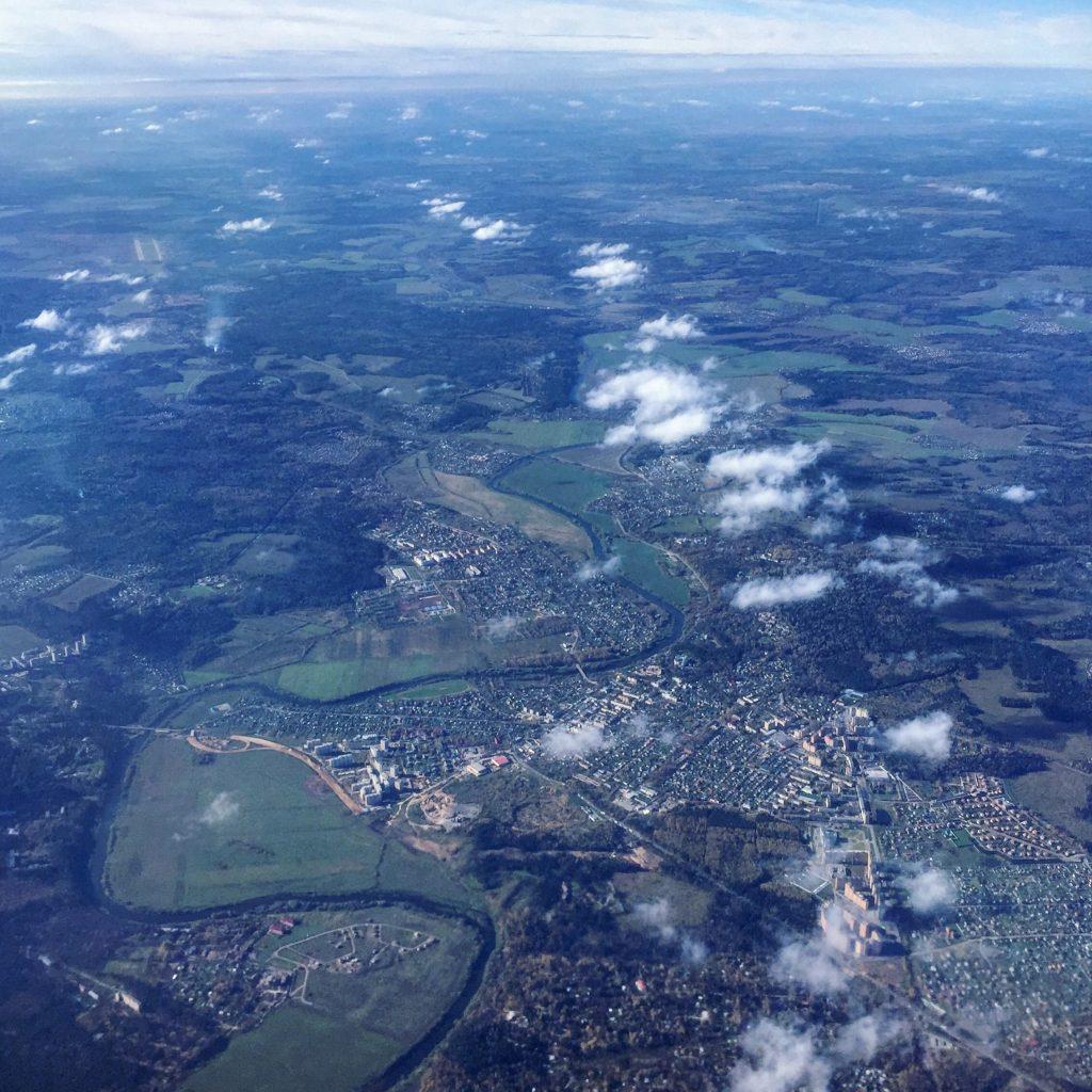 La Russie vue du ciel, region de Moscou.