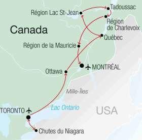 Visite de l'est canadien avec Vacances Transat