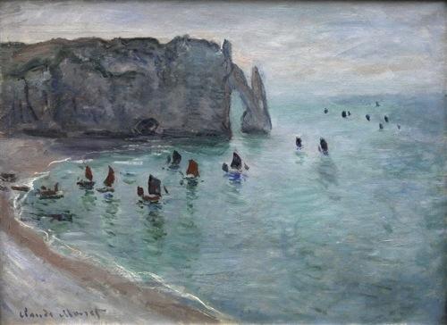 Les falaises d'Etretat, Monet